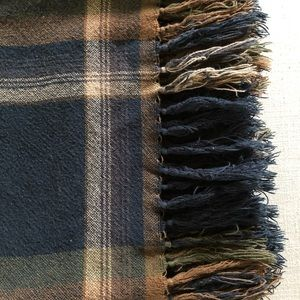 Ralph Lauren Bedding - RALPH LAUREN | Vintage plaid blanket with tassels